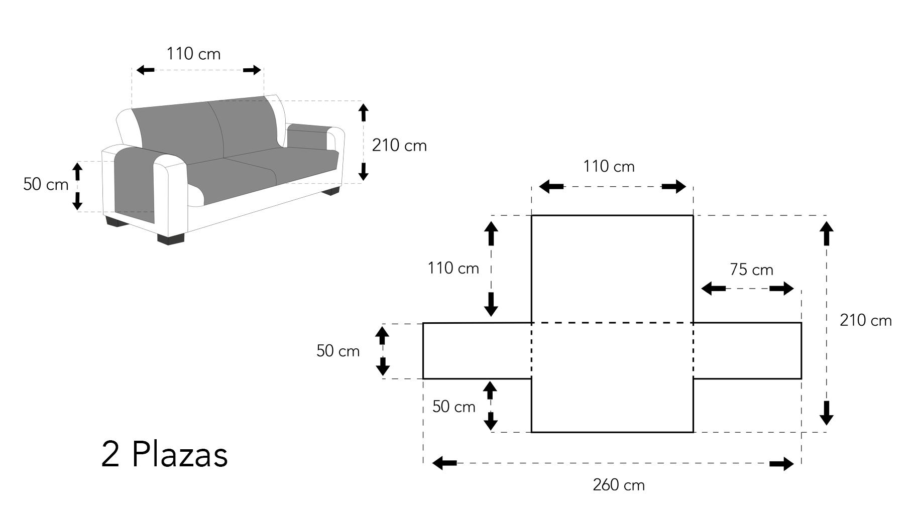 Cubre sofá dos plazas