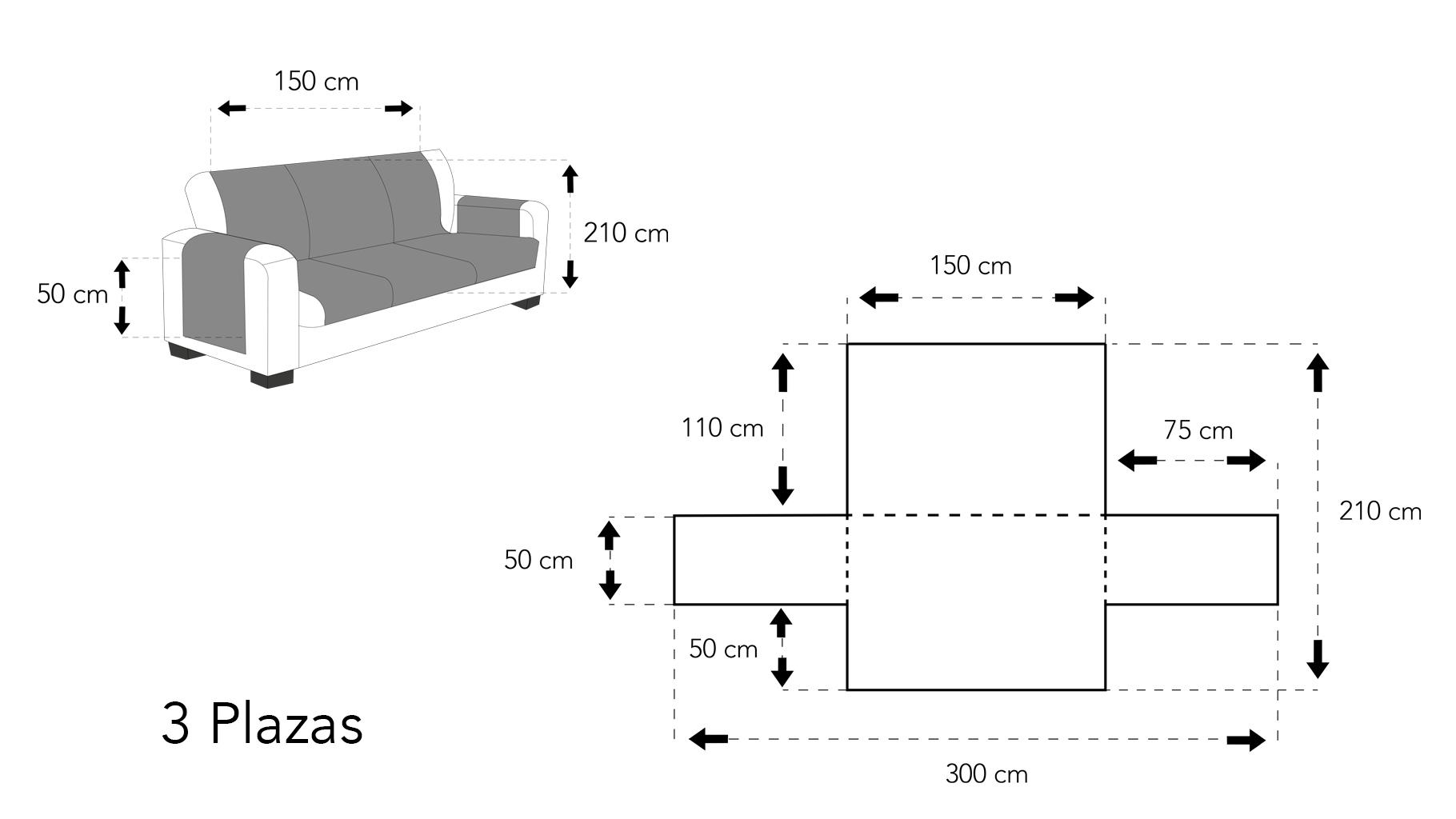 Cubre sofá 3 plazas