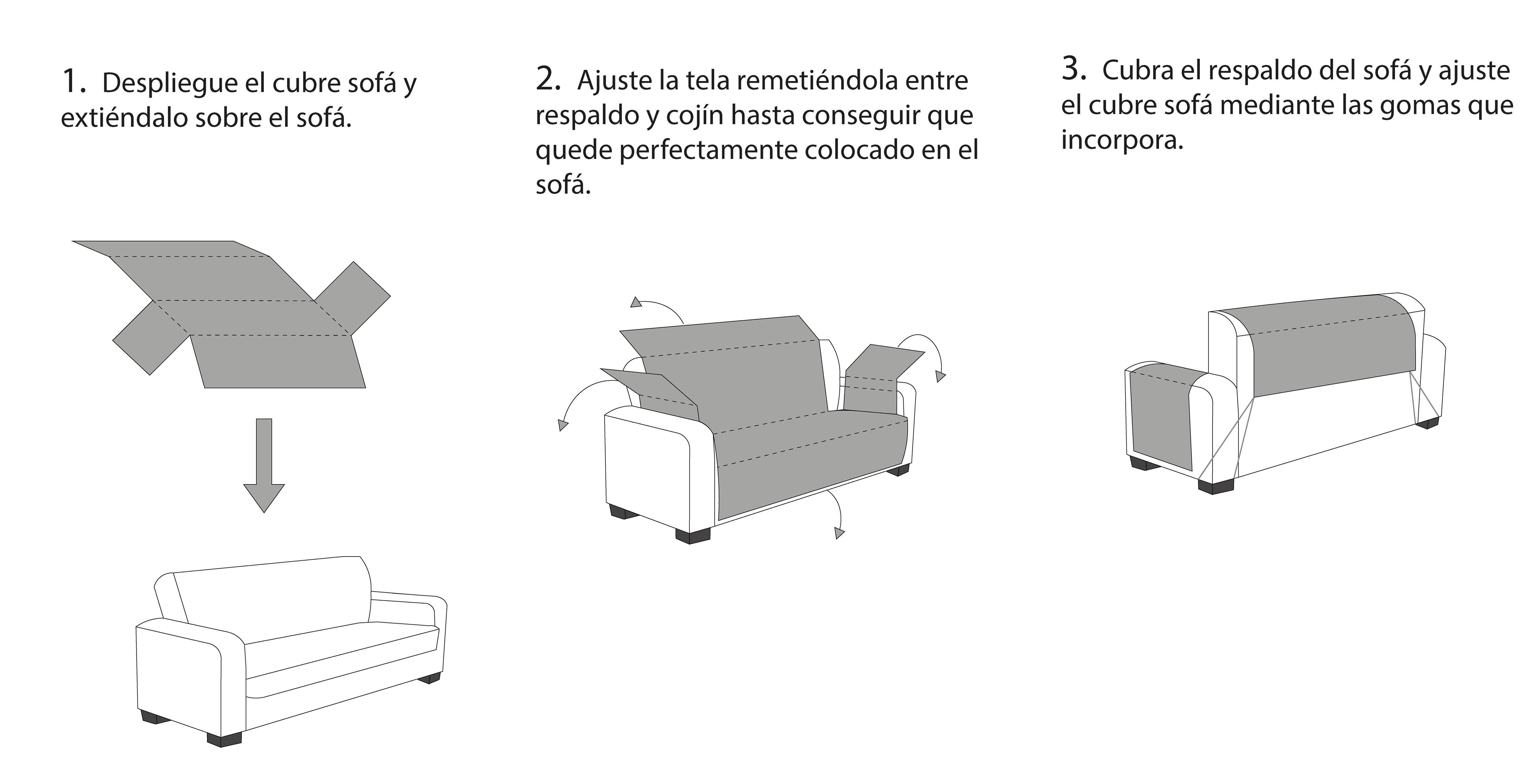 instrucciones cubre sofá