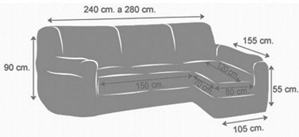 medidas chaise longue